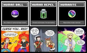 Pokemon Trainer Red Meme - human pokemon items pokemon memes