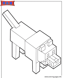 minecraft wolf coloring pages printable