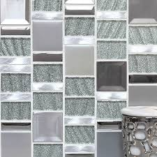 Mirrored Mosaic Tile Backsplash by Silver Metal Kitchen Backsplash Tiles Mosaic Tile Deco Mesh