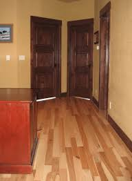 interior staining of doors trim and interior painting of walls
