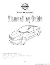 nissan altima 2015 service guide nissan altima hybrid 2007 l32a 4 g dismantling guide