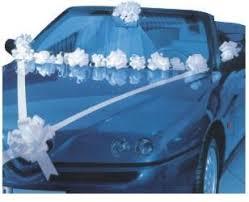 kit deco voiture mariage kit décoration voiture mariés lavande destockage grossiste