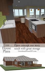 free house plan of a one story easy going ranch