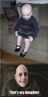 Addams Family Meme - uncle fester s daughter by greatpride meme center