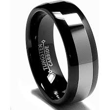 black wedding bands for him and beveled edge black and silver tone mens 8mm titanium wedding band