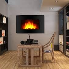 Wall Mounted Electric Fireplace Heater Finether 1500w Adjustable Wall Mounted Electric Fireplace Heater