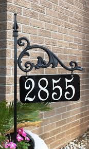 unique black metal house number signs and plates ideas