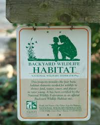 habitat restoration in your own backyard certification offered by