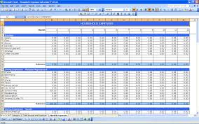 Household Expense Spreadsheet Household Expenses Excel Templates