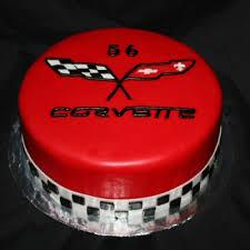 corvette birthday corvette logo cake cakecentral com