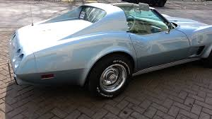 77 corvette l82 chevrolet corvette l82 light blue for sale