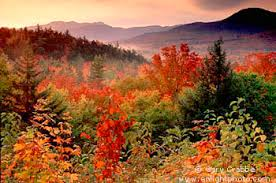 fall colors sunrise kancamagus pass white mountains
