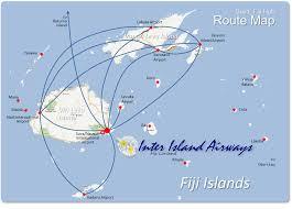 Fiji Islands Map Aviana Airways Inter Island Airways Fiji Limited Aviana