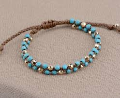 bead braid bracelet images Semi precious stone gold beads braided friendship bracelets jpg