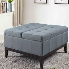 cushion coffee table with storage furniture cushion coffee table with storage linen ottoman fabric