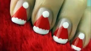 christmas nail art cute nail designs for christmas santa nail