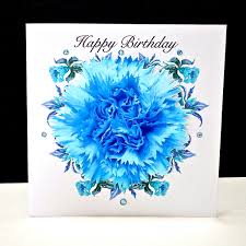 blue carnations blue carnation happy birthday card decorque cards
