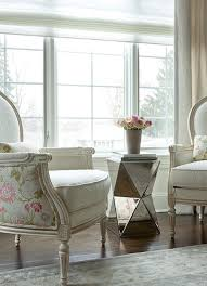 Pink Accent Table Mirrored Accent Table Transitional Living Room The Elegant Abode