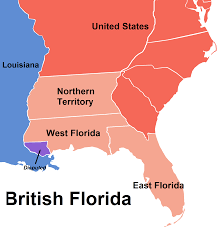 Northern Florida Map by Image Map Of British Florida Montcalm Survives Png