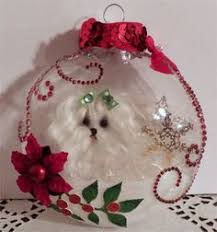 maltese puppy cut painted ornament can be