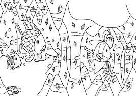 diamond coral reef fish colouring page colouring tube