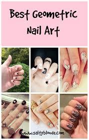 best geometric nail art salty blonde salty blonde a beauty