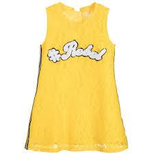 fun u0026 fun girls yellow lace dress childrensalon