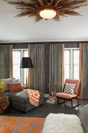 Orange Curtains For Living Room Best 25 Orange Curtains For The Home Ideas On Pinterest Orange