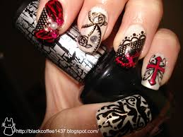 gothic nail design how you can do it at home pictures designs gothic nail design