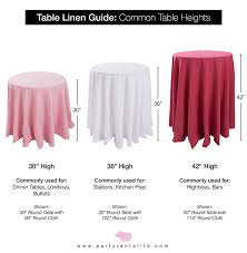 round table cloth dimensions let s talk linens the ultimate guide to table linen sizes party