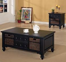 living room coffee tables black wood round coffee table classic