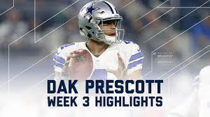 dak prescott highlights bears vs cowboys nfl week 3 player
