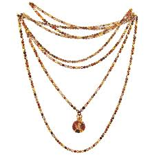 antique mixed metals shakudo chain with drop for sale at 1stdibs