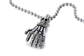 cremation jewelry for men men s skull claw stainless steel pendant necklace cremation