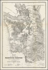 Map Of Montana And Wyoming by Map Of That Part Of Washington Territory Lying West Of The Cascade
