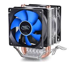 fan that uses ice to cool deep cool frozen ice mini dual fan computer cpu cooler 80mm