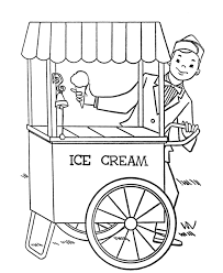 print summer ice cream coloring pages or download summer ice cream