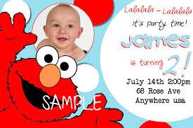 Example Of Invitation Card For Birthday Elmo Birthday Invitations Dhavalthakur Com