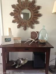 diy metal table top table and hearth