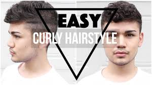 super easy inspired mens curly hairstyle aj sanchez youtube