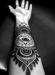 forearm artistic black white arm tattoos best tats
