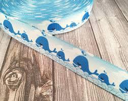 whale ribbon whale ribbon etsy