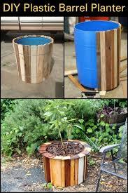 best 25 plastic barrel planter ideas on pinterest plastic