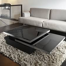 contemporary coffee table lacquered mdf tempered glass