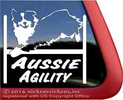 australian shepherd agility australian shepherd agility dog decals u0026 stickers nickerstickers
