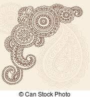 paisley henna doodles vector henna mehndi paisley doodle eps