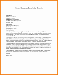 cover letter human resources cover letter human resources