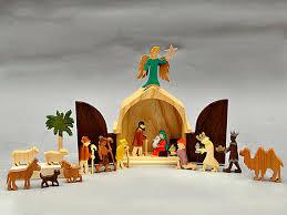 wooden nativity set the christmas story unique nativity set wooden nativity