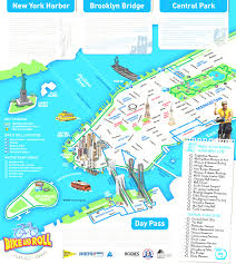Central Park New York Map by Map Of New York City Streets And Attractions At Tour Map New York