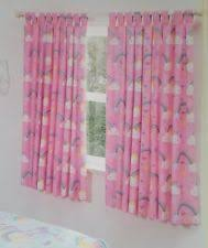 Rainbow Curtains Childrens Girls Lined Curtains Ebay